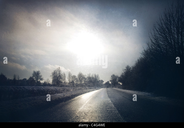 mysterious road - Stock-Bilder