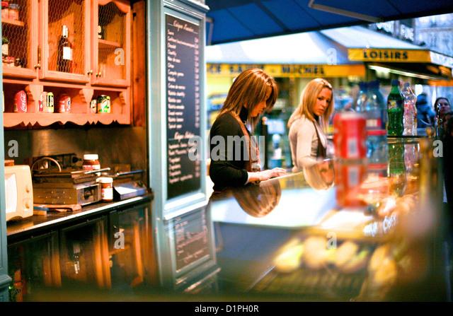 Paris Panorama Street Cafe Stores