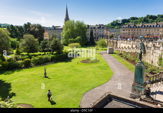 Parade Gardens, Bath, Somerset, England, UK - Stock Image