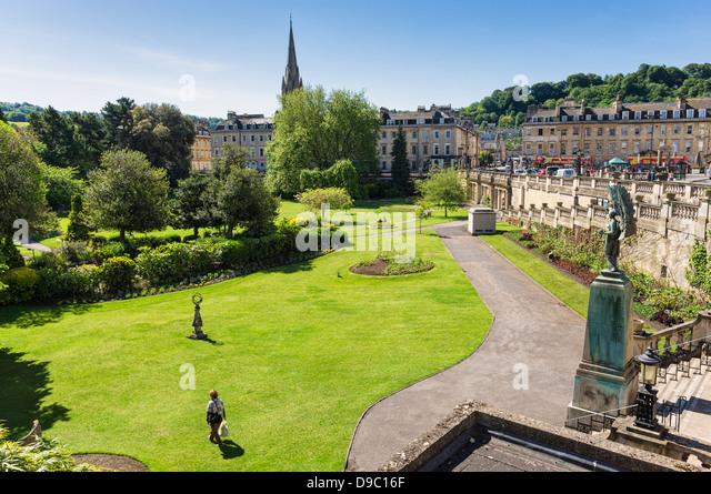 Parade Gardens, Bath, Somerset, England, UK - Stock Image