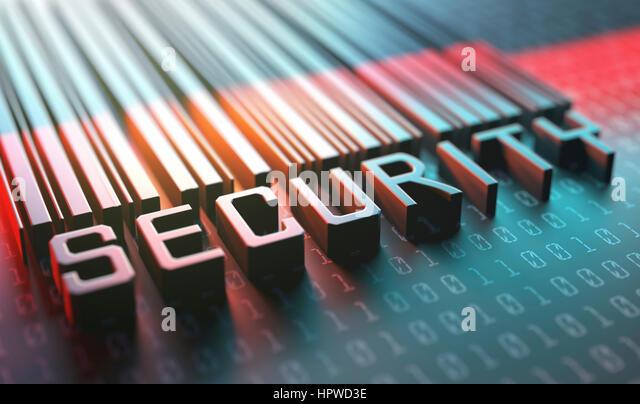 Security barcode, illustration. - Stock-Bilder