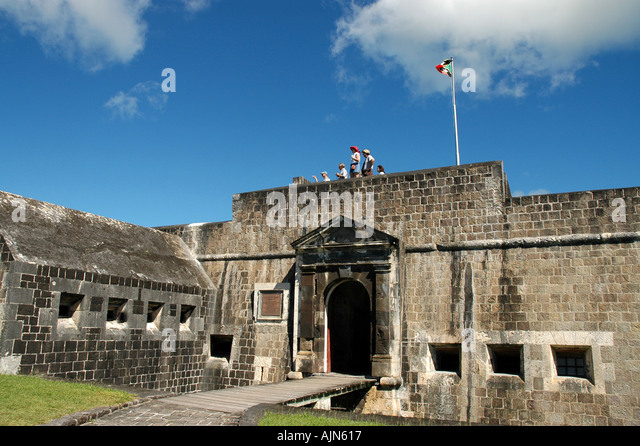 St Kitts Brimstone Hill Fortress The Citadel - Stock Image