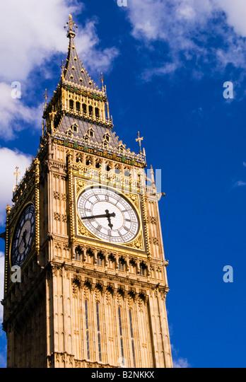 Big ben tower, London, England - Stock Image