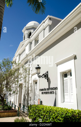 La Princesa historic building, the old jail, now the Puerto Rico tourism office, Old San Juan - Stock Image
