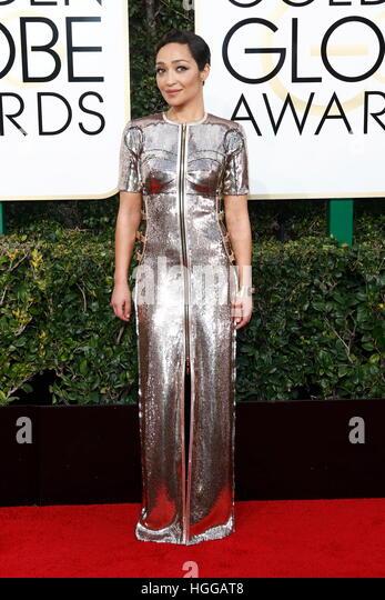 Beverly Hills, Us. 08th Jan, 2017. Ruth Negga arrives at the 74th Annual Golden Globe Awards, Golden Globes, in - Stock-Bilder