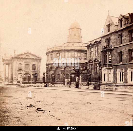 Sheldonian Theatre, Broad Street, Oxford, UK c1860s - Stock-Bilder