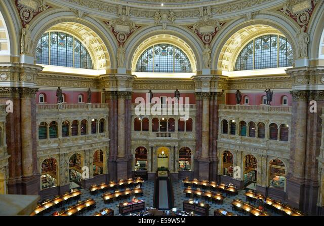 (140724)--WASHINGTON D.C., July 24, 2014 (Xinhua) -- Photo taken on July 24, 2014 shows the Library of Congress - Stock-Bilder