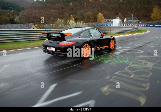 Porsche GT3 RS Nurburgring Germany - Stock Image