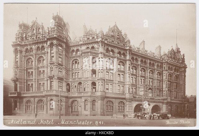 Midland Hotel, Manchester, United Kingdom - Stock Image