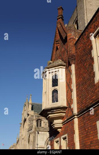 Bury St Edmunds town centre, Suffolk, UK - Stock Image