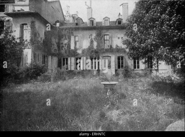 Benjamin Constant birthplace (pulled down in 1912).  Henri-Benjamin Constant de Rebecque, Swiss-born,  writer and - Stock Image