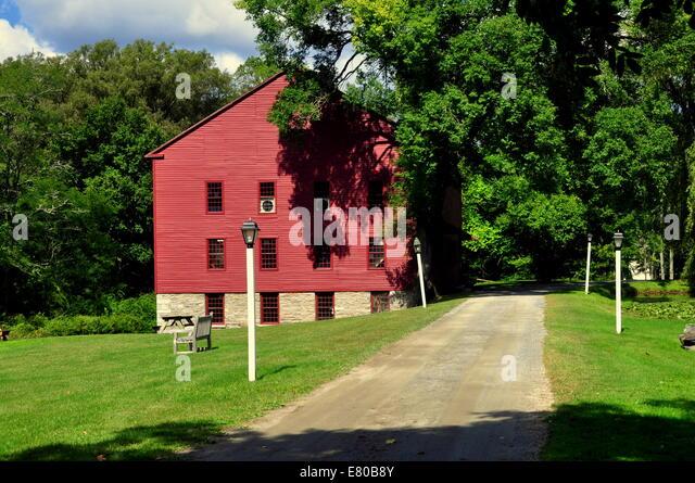 New Lebanon, NY:  The Tannery building at the Mount Lebanon Shaker Village - Stock Image