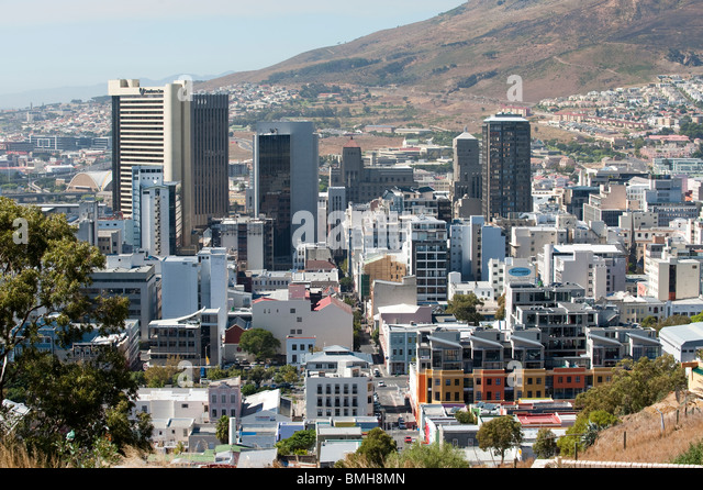 Cape Town city center Western Cape South Africa - Stock Image