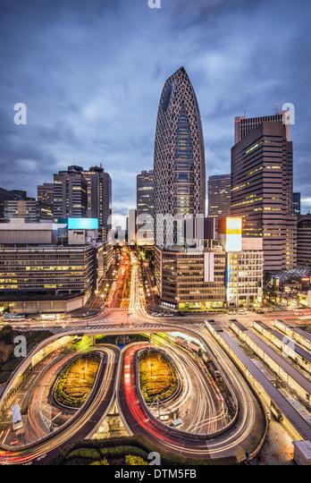 Tokyo, Japan cityscape at Shinjuku skyscraper district. - Stock Image