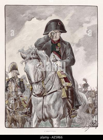 Napoleon And Spyglass - Stock Image