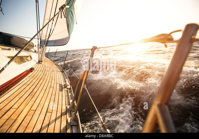 Sailing regatta in the Aegean Sea - Stock Image