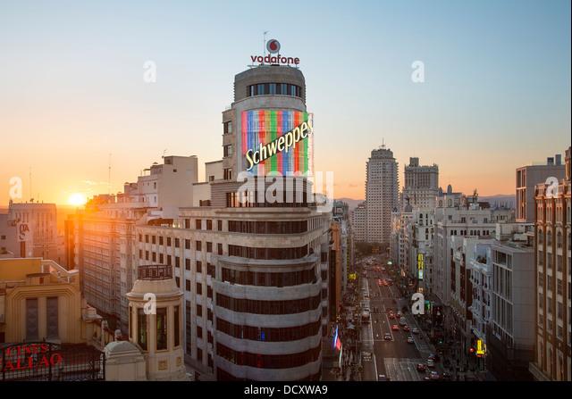 Spain, Skyline in Madrid - Stock Image