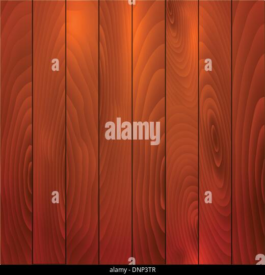Illustration of a rich coloured wooden background - Stock Image
