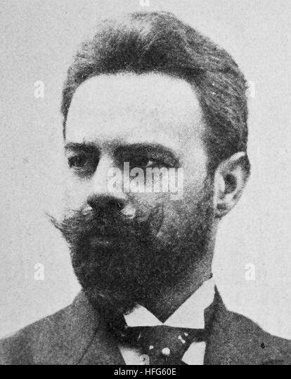 Hugo Becker Jean Otto Eric Hugo Becker, 1863 - 1941, was a prominent German cellist, cello teacher, and composer, - Stock Image