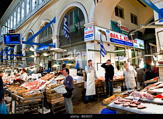 Grecian stock photos grecian stock images alamy for Central fish market