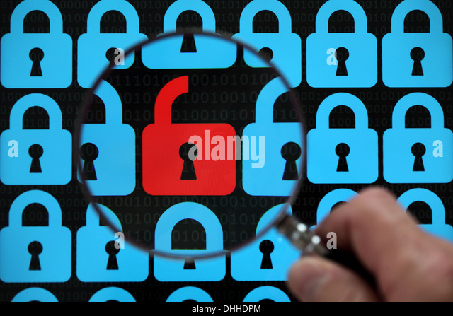 Internet security lock - Stock-Bilder