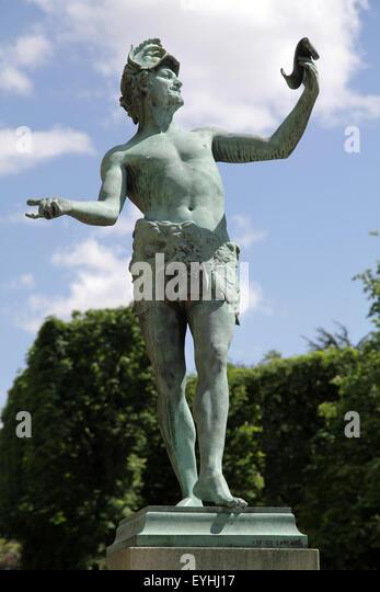 The Greek Actor Arthur Bourgeois (1838-1886) Paris Jardin du Luxmbourg - Stock Image