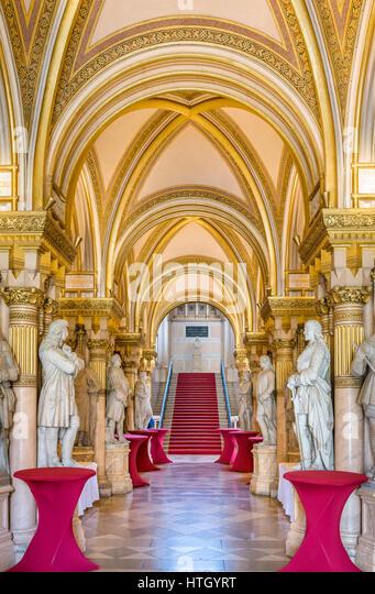 Entrance Hall of the Museum of Military History ( Heeresgeschichtliches Museum ), Vienna, Austria - Stock Image