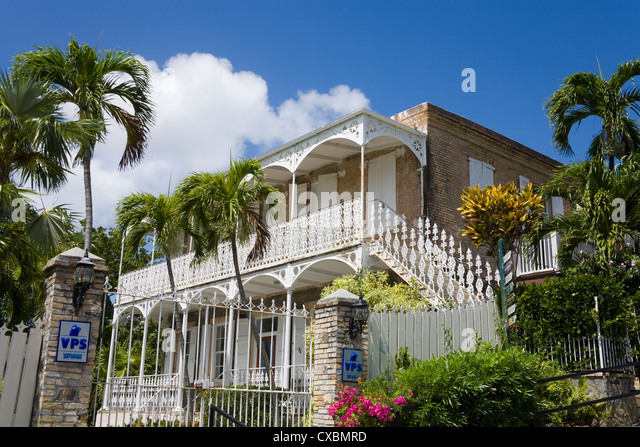 Villa Notman in Kongens Quarter, Charlotte Amalie, St. Thomas Island, U.S. Virgin Islands, West Indies - Stock Image