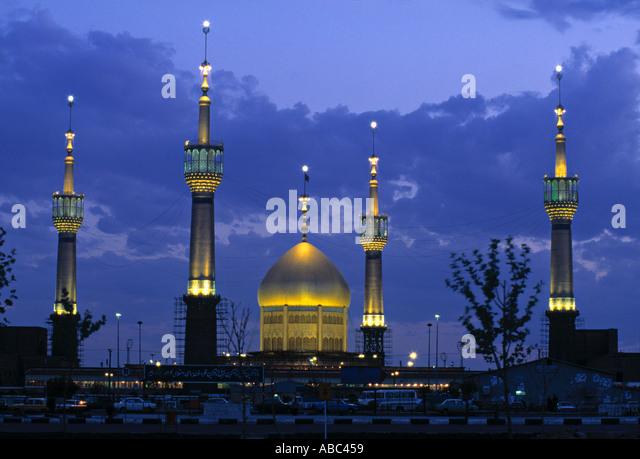 Aramgah-e Emam Khomeini Mausoleum, Tehran, Iran - Stock Image