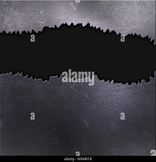 Metallic background with scratches and stains - Stock Image
