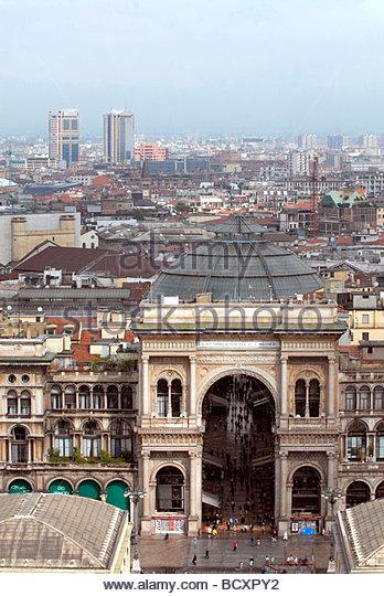 galleria vittorio emanuele, milan, lombardia, italy - Stock Image
