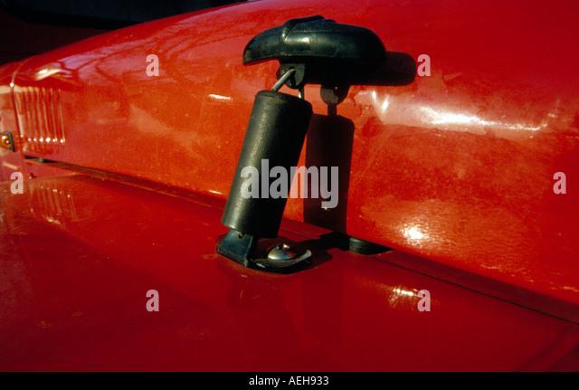 detail red Suzuki Jeep. Photo by Willy Matheisl - Stock Image