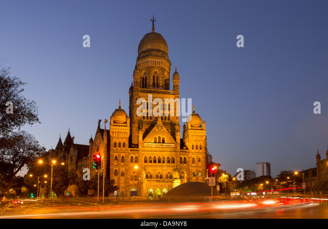 India, South India, Asia, Maharashtra, Mumbai, Bombay, City, Dadabhai Naoroji Road, Municipal Corporation, Building, - Stock Image