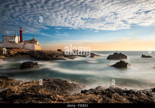 Lighthouse, Cabo Raso, Cascais, Portugal: 2015 - Stock Image