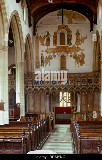 St Mary's church, Attleborough, Norfolk, 1963. Artist: Laurence Goldman - Stock Image