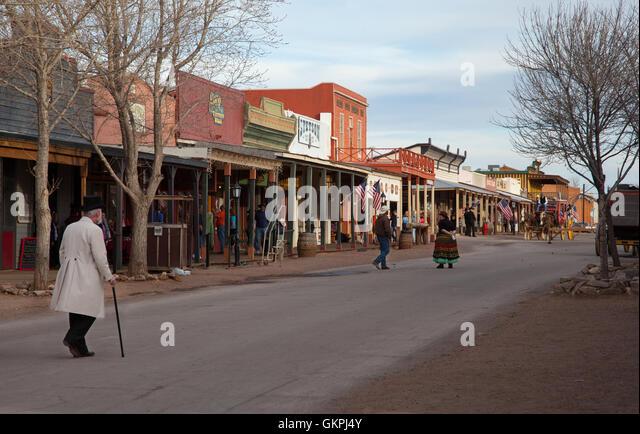 Main street in Tombstone, Arizona. - Stock Image