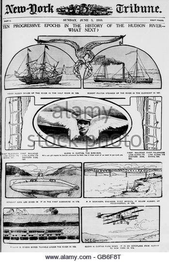 Ten progressive epochs in the history of the Hudson River--what next¿ - Stock Image