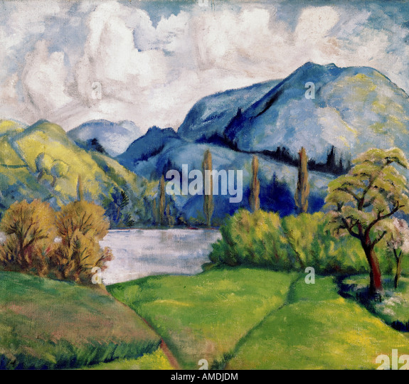 fine arts, Cezanne, Paul, (1839 - 1906), painting, Kunsthaus Zürich, French, impressionsm, nature, tree, trees, - Stock Image
