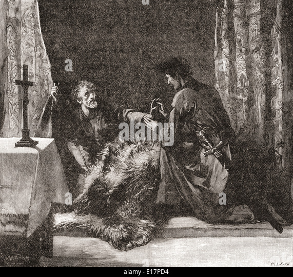 Robert the Bruce's last orders to Sir James Douglas. - Stock Image