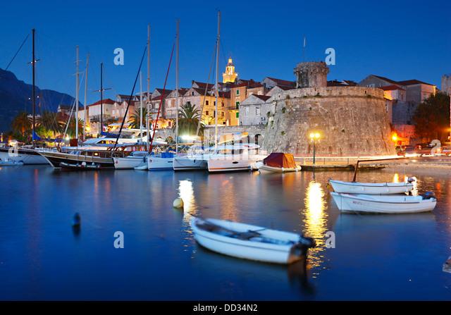 Korcula town, Croatia - Stock-Bilder