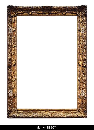 Vintage gold frame isolated over a white background - Stock-Bilder