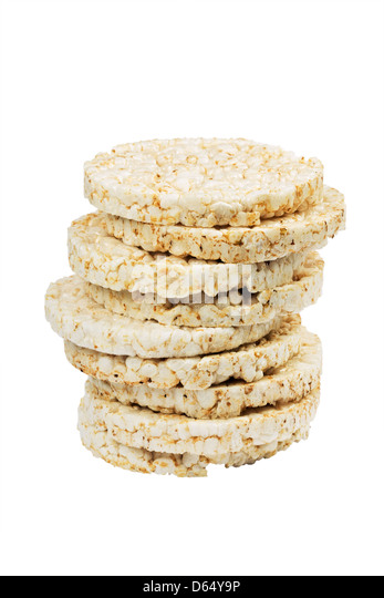 Stack of rice cakes - Stock Image