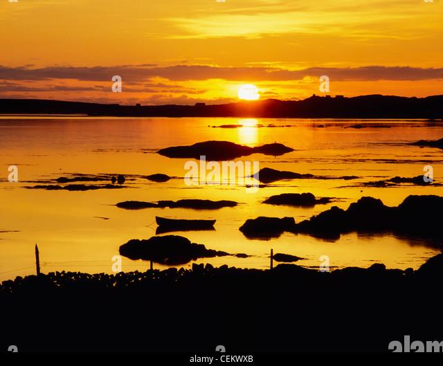 Co Galway, Ballyconneely Bay, Ireland - Stock Image