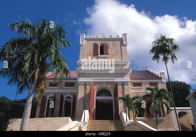 St Thomas US Virgin Islands Charlotte Amalie Frederick Lutheran Church USVI - Stock Image