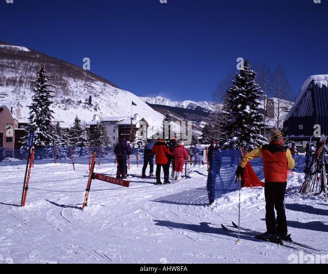 Vail ski resort village stock photos vail ski resort for Chair 4 cliffs vail