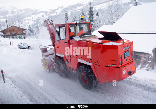 snow clearing machine