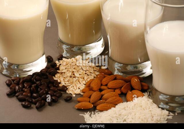 Non Dairy Milk - Stock Image