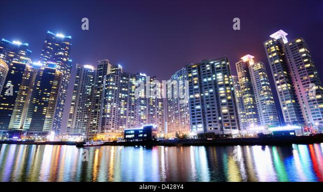 Residential high rises in Busan, South Korea. - Stock-Bilder