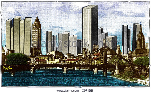 Fair City Frankfurt - Stock-Bilder