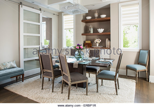 Elegant dining room - Stock Image
